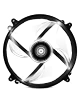 NZXT Technologies FZ 200mm White LED Cooling Fan with Sleeved Cable RF-FZ20S-W1