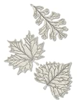 Heritage Lace 'Foliage Two 8-Inch and One 6-Inch Accent, Ecru, Set of 3