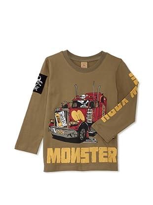 Monster Republic Boy's Monster Truck Tee (Olive)