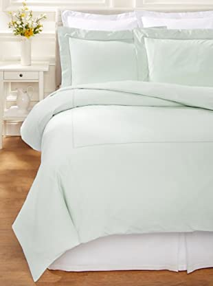 400 TC Percale Duvet Set (Eucalyptus)