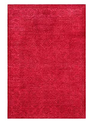 nuLOOM One-of-a-Kind Vintage Hand-Knotted Overdyed Rug, Fire Pink, 5' 7