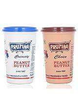 Prutina Peanut Butter (Creamy & Choco) Pack Of 2 - 800 Gm