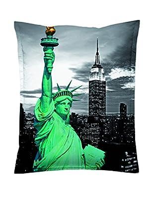 Sitting Bull Puff Grande Sb Super Bag New York Gris/Verde