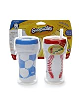 Nuk Gerber Graduates Insulated Straw Sports Cup 9oz 2pk (Baseball/Soccer) By Nuk