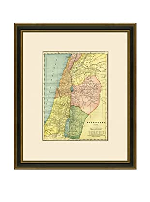 Antique Lithographic Map of Palestine, 1883-1903