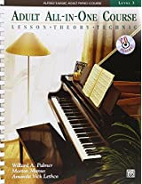 Alfred's Basic Adult All-in-one Course: Lesson Theory Technic: 3 (Alfred's Basic Adult Piano Course)