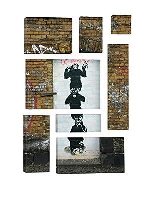 Banksy Monkey Business 8-Piece Giclée On Canvas