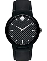 Movado Gravity Analogue Black Dial Men's Watch - 606849