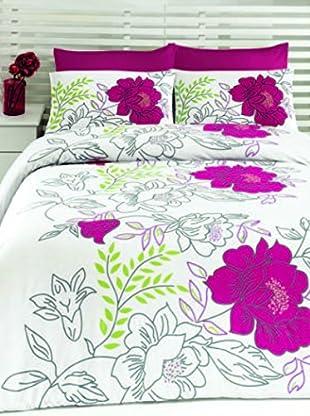 Colors Couture Bettdecke und Kissenbezug Turkuaz