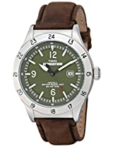 "Timex Men's T49881 ""Expedition"" Silver-Tone Watch with Brown Leather Band"