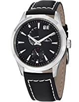 Men'S Gentlemen Black Dial Black Leather (6662-7004-G1)