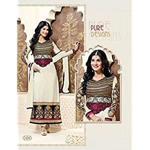 Fumia Collections Evelyn Straight Cut Salwar suit - White