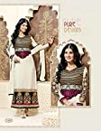 Evelyn Straight Cut Salwar suit white