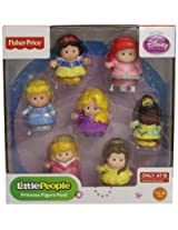 Fisher-Price Disney Princess Figures: Cinderella, Ariel, Rapunzel, Tiana, Belle, Snow White & Aurora