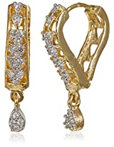 Ava American Diamond Drop Earrings for Women (Gold) (E-B-CPE1145)