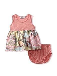 Jupon Baby Elly Dress & Bloomers Set (Pink)