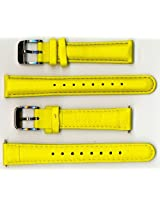 Invicta Genuine 16mm Yellow Micro Fiber Lorica Watch Strap IS140