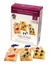 Skillofun Wooden Peg A Fruit Number Game, Multi Color