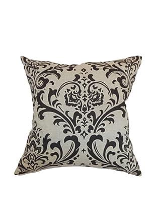 The Pillow Collection Olavarria Damask Pillow, Black