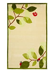 Lil Mo Leaves And Branches Rug (Ivory)