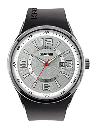 K&BROS 9464-2 / Reloj de Caballero  con correa de caucho Negro