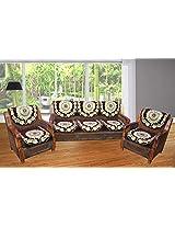 Hargunz Beautiful brown 5 seater sofa cover set