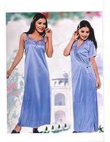 Indiatrendzs Women's Sexy Hot Nighty Magenta 2pc Set Lingerie Bedroom Sleepwear