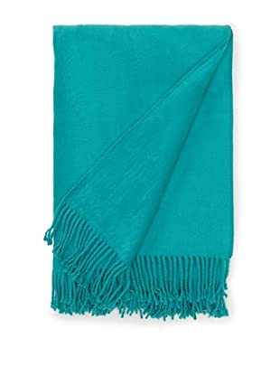 Nine Space Brushed Organic Cotton Throw (Teal)