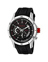 red line Men's 50021-01 Tech Black Dial Black Silicone Watch