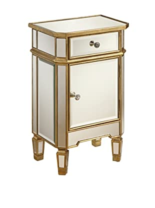 Coast to Coast One-Drawer One-Door Mirrored Cabinet
