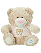 Archies Soft Toy Bear With T Shirt, Pink/Blue (30cm)