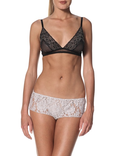 Samantha Chang Women's Lounge Mini-Short (Oyster/Oyster Lace)