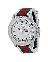 Gucci G Timeless Striped Nylon Strap Men'S Watch - Gcya126231