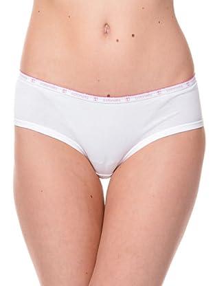 Cotonella Pack 2 Mini Culotte Logo (blanco)