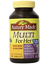 Nature Made Multi For Her Tablets - 300 Count
