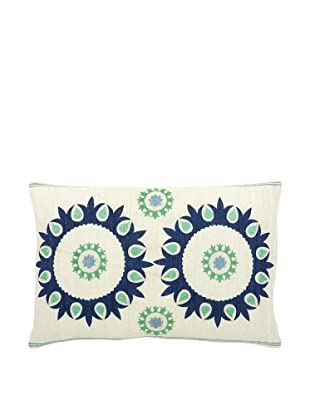 Mela Artisans Corfu Pillow (Green/Blue/White)