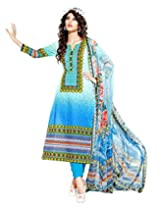 Surat Tex Sea Green Color Digital Print Cotton Semi-Stitched Salwar Suit-D318DL2405SA