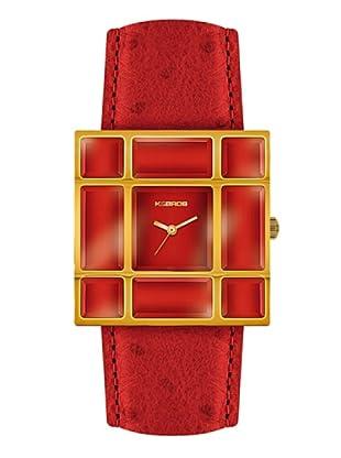 K&BROS 9170-4 / Reloj de Señora  con correa de piel rojo