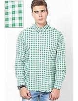 Green Slim Fit Shirt Peter England