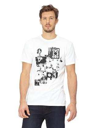 ANALOG Herren T-Shirt Analog Auto Focus VTC (White)