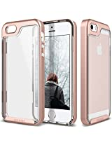 iPhone SE Case, Caseology® [Skyfall Series] Scratch-Resistant Clear Back Cover [Rose Gold] [Shock Absorbent] for Apple iPhone SE (2016) & iPhone 5S / 5 (2013) - Rose Gold