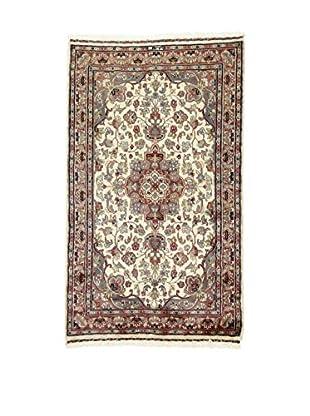 L'Eden del Tappeto Teppich Kashmirian F/Seta rot/beige/grau 153t x t91 cm