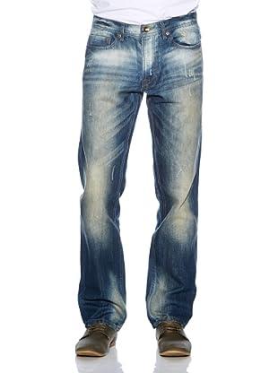 Solid! Pantalón Vaquero Used (Azul Oscuro)