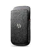 Blackberry Leather Pocket For Blackberry Q10 - Black