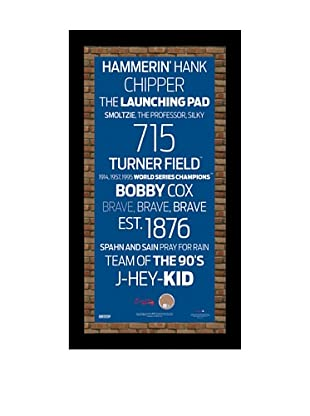 Steiner Sports Memorabilia Atlanta Braves Framed Subway Sign