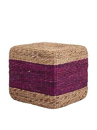 Hien Hyacinth Stool - Purple, 15.75X19X19