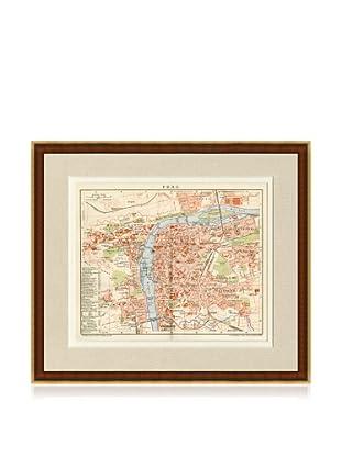 Antique Prague 1890's Map