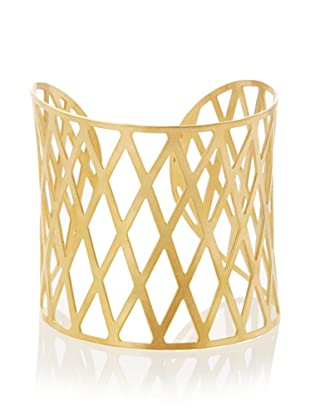 Chloe Collection By Liv Oliver Golden Diamond Shape Wide Cuff