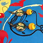 Butterfly earrings with yellow beads for casual wear