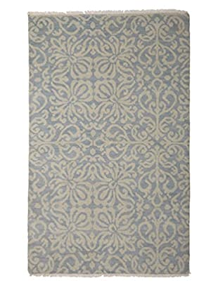 Darya Rugs Ikat Oriental Rug, Light Blue, 4' 1